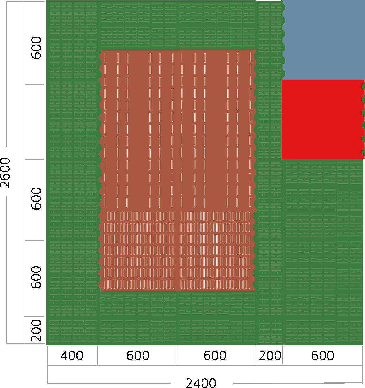 Freilaufbucht-Guss-Kunststoffkombination-Verlegebeispiel