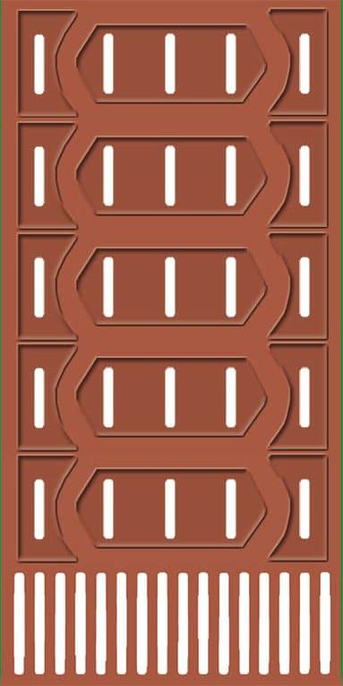 Flachprofil Dekorleiste Wandleiste Zierprofile AD407 Hexim Perfect sto/ßfest Stuckprofil aus PU glatt wei/ß 2 Meter Flachleiste 38x13mm